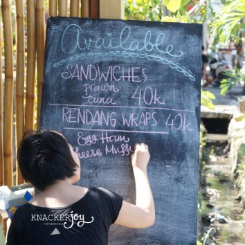 Chalkboard Menu for Brucha Kitchen