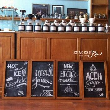 Chalkboard Menu for Homemate Cafe